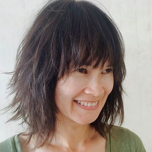 38 medium Asian shaggy hairstyle