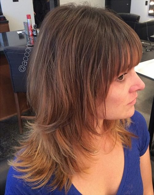 39 medium layered haircut with bangs for thin hair