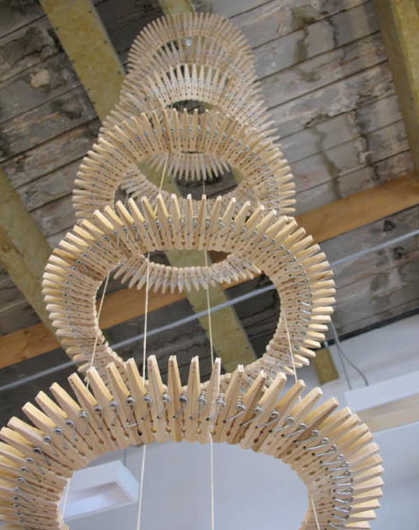 4 Clothespin Chandelier