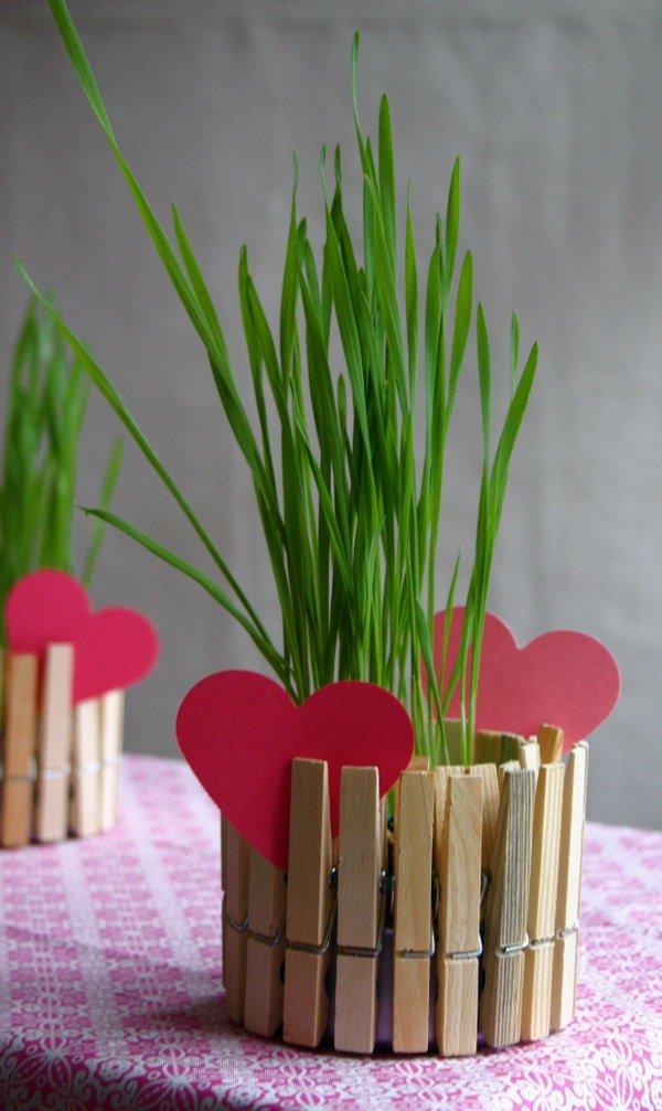 4 DIY Clothespin Planters