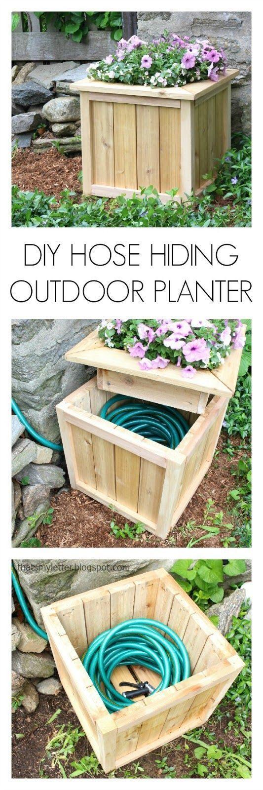 4 Make a Planter that Hides Your Hose