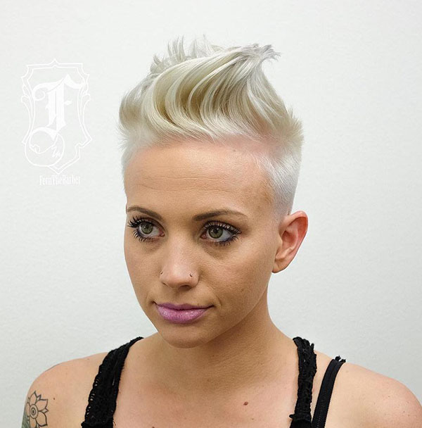 4 womens blonde mohawk hairstyle