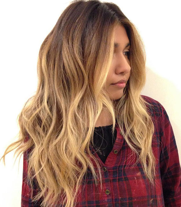 40 layered caramel balayage hair