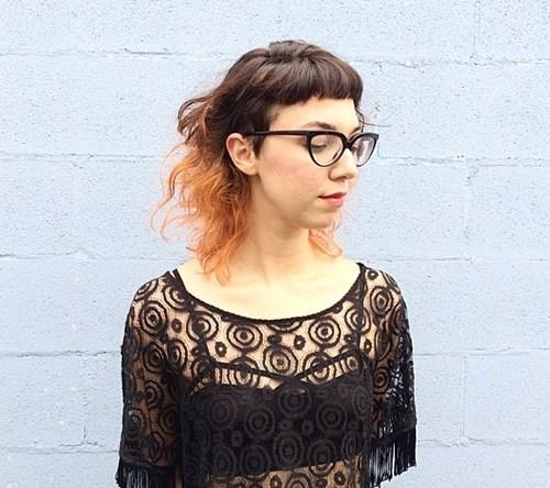 40 medium wavy hair with short bangs