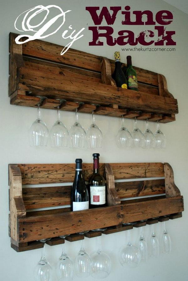 42 DIY Rustic Wine Rack