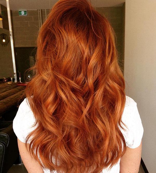 46 red shag haircut for long hair