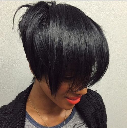 46 super straight black women hairstyle