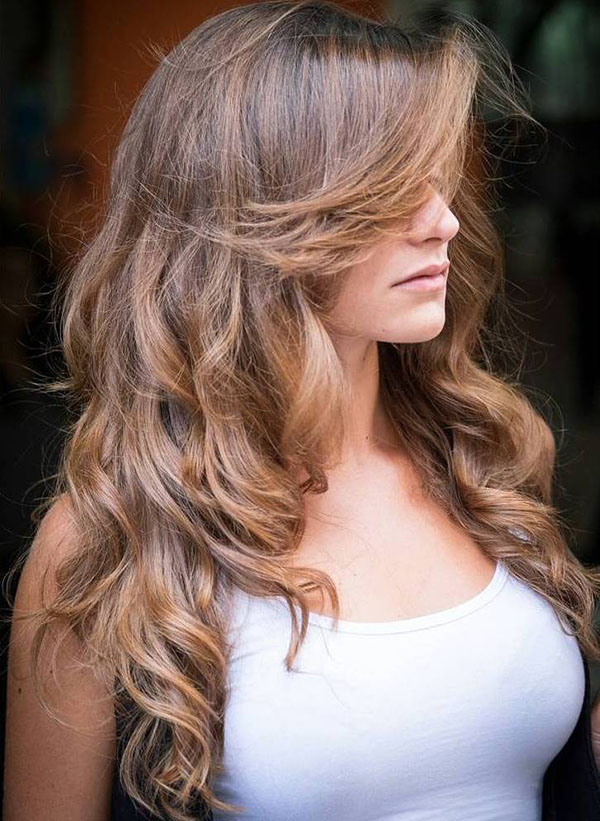 47 long curly light brown hair