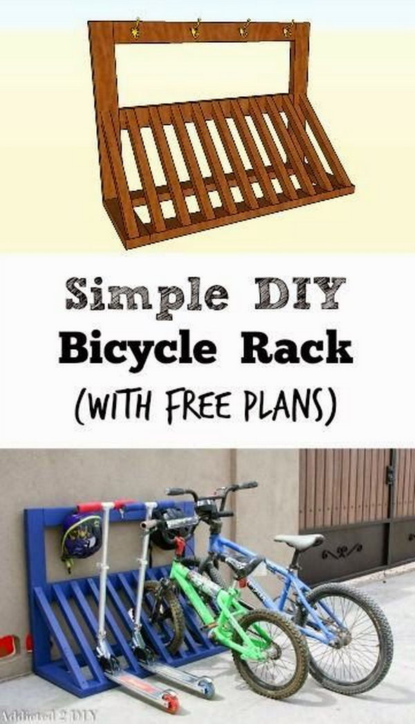 49 DIY Pallet Bicycle Rack