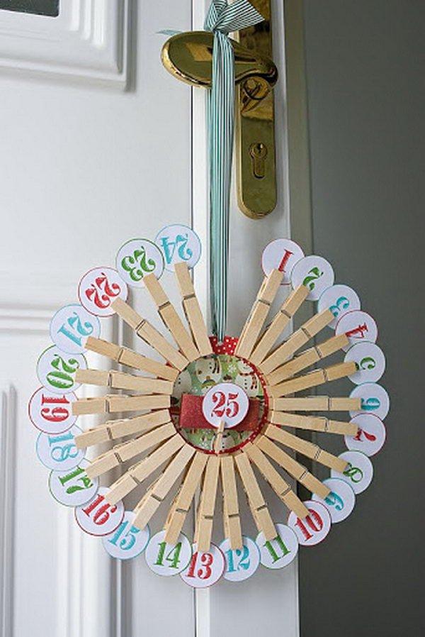 5 Advent Countdown Calendar and Wreath