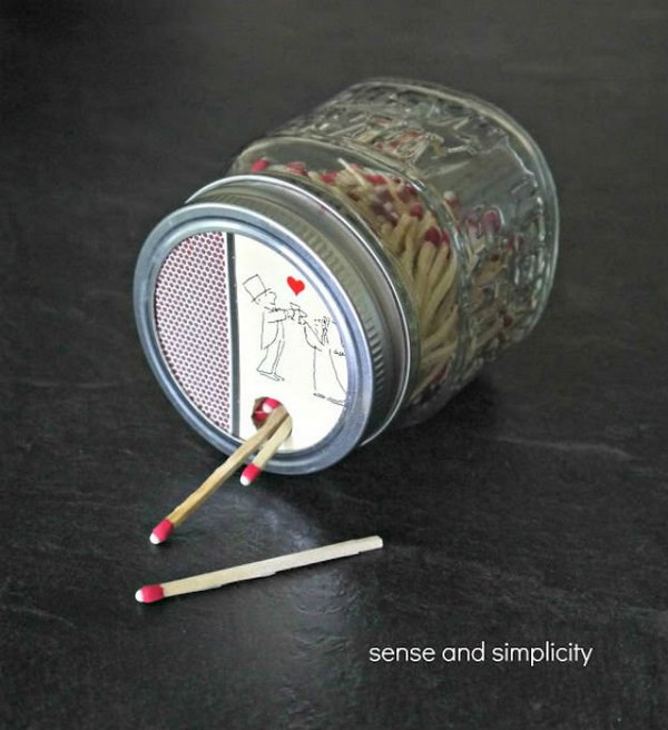 5 DIY Mason Jar Matchbox