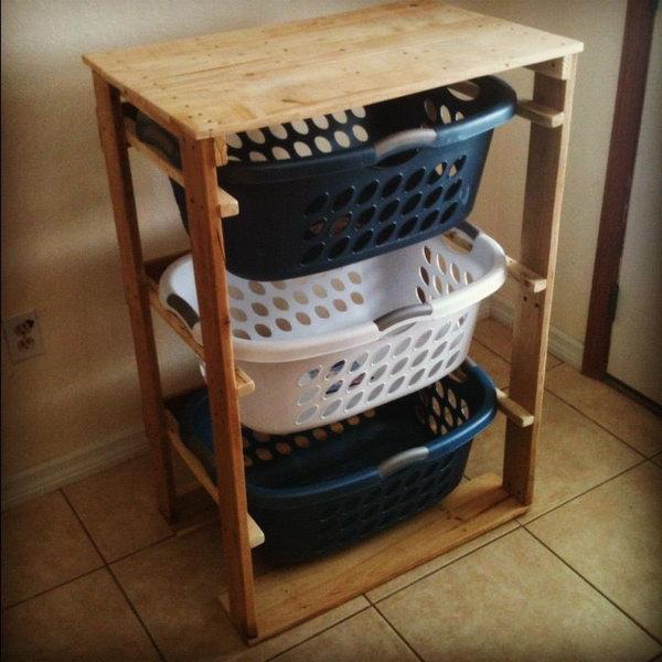 5 DIY Pallet Laundry Basket Dresser