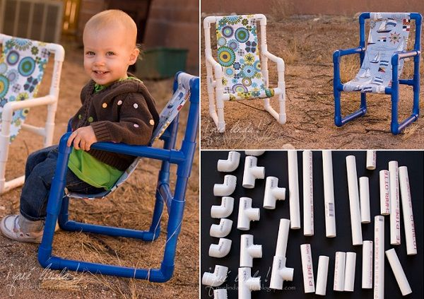 5 DIY Toddler Chairs Made out of PVC Pipe