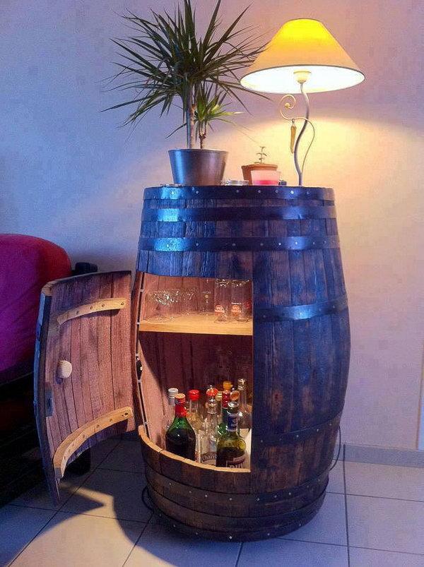 5 DIY Wine Barrel Cabinet