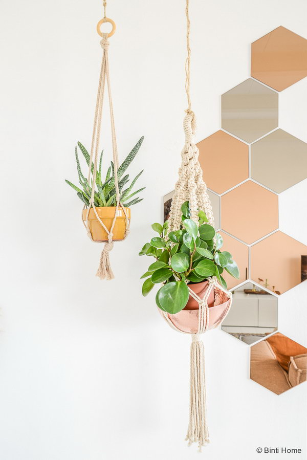 5 Metallic Accents for Hanging Plants