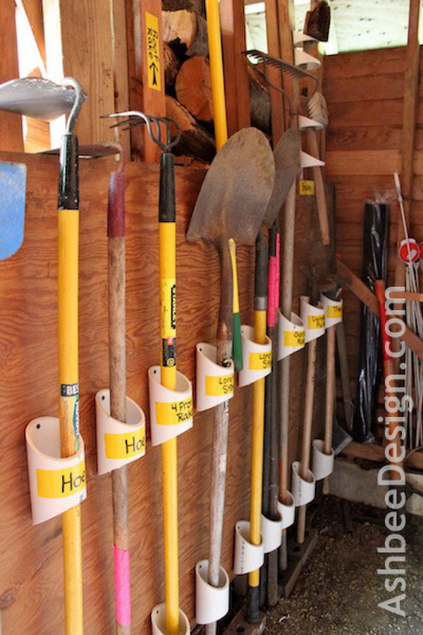 5 Organize Your Tools With PVC Pipe
