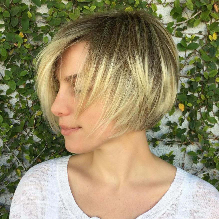 5 blonde balayage layered bob