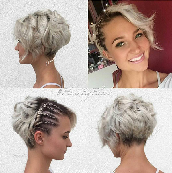 5 short bridal bob hairstyle with braids