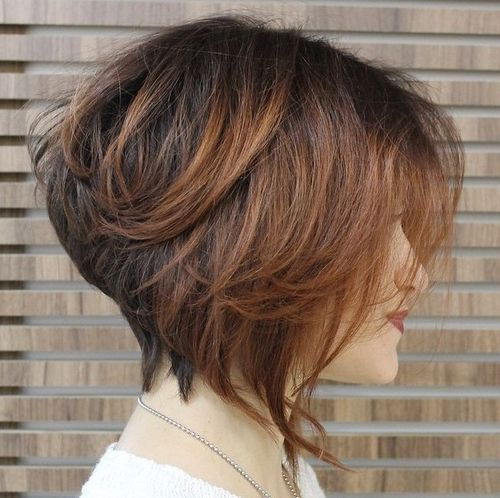 5 stacked brown bob with balayage