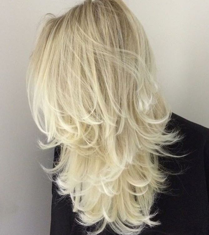 50 platinum blonde layered hair