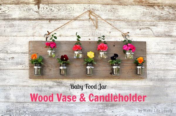 6 DIY Planter Made with Baby Food Jars