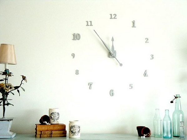 6 Floating Numbers Wall Clock