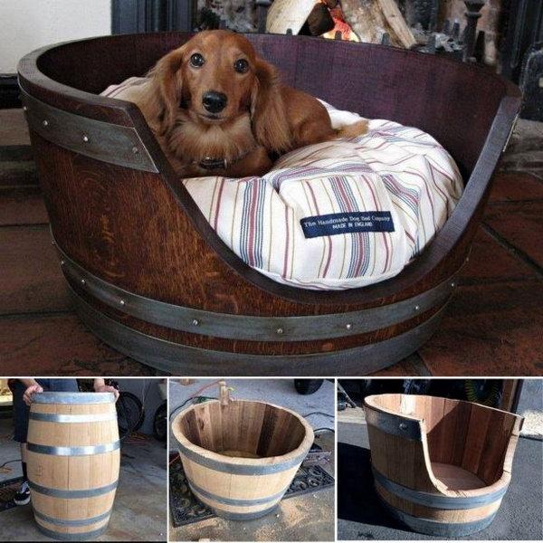 6 Wine Barrel Pet Bed