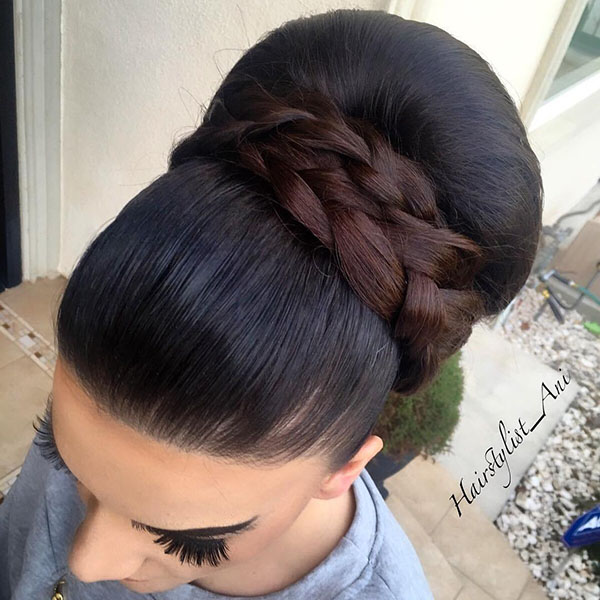 6 sleek big bun prom updo