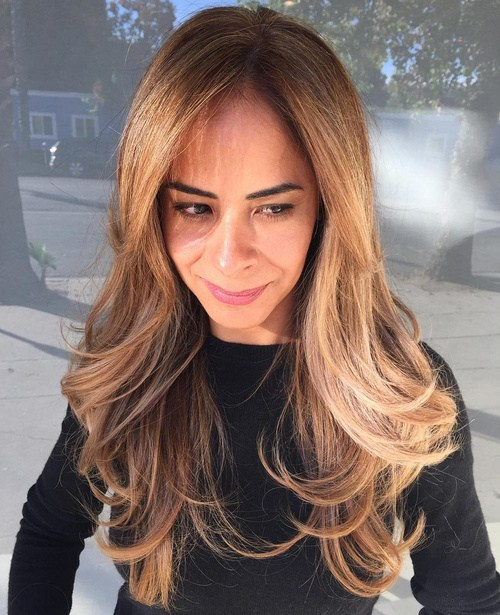 66 long layered hairstyle with extra large waves
