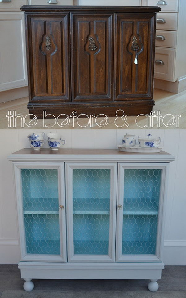 7 Cabinet into Buffet Makeover