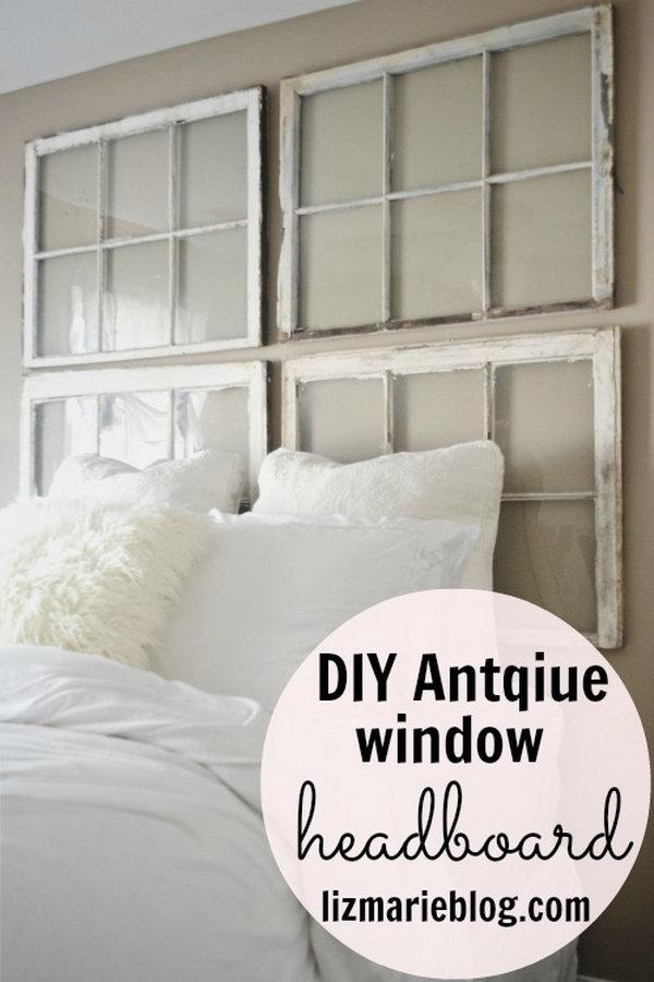 7 DIY Antique Window Headboard