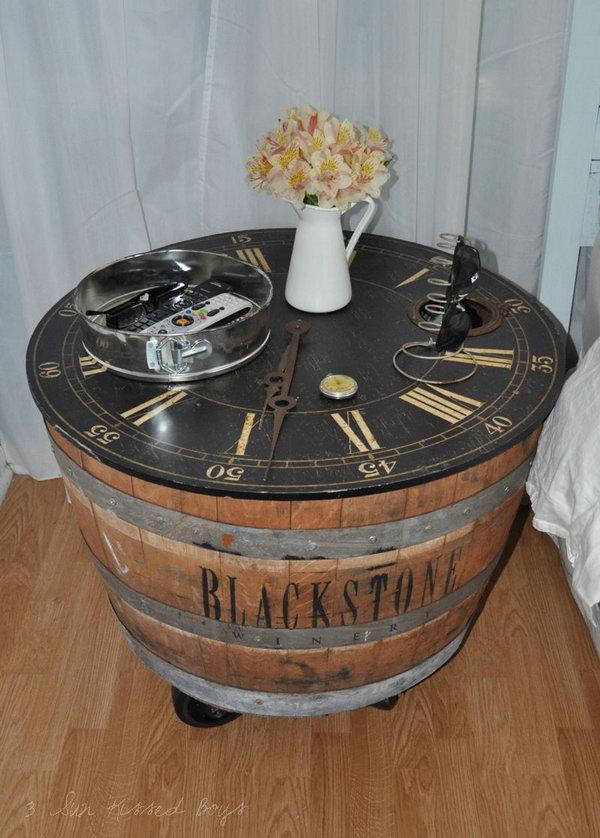 7 DIY Wine Barrel Nightstand
