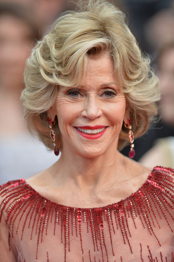 """CANNES, FRANCE - MAY 14: Actress Jane Fonda attends the Opening ceremony and the """"Grace of Monaco"""" Premiere during the 67th Annual Cannes Film Festival on May 14, 2014 in Cannes, France.  (Photo by Michael Buckner/Getty Images for Variety)"""