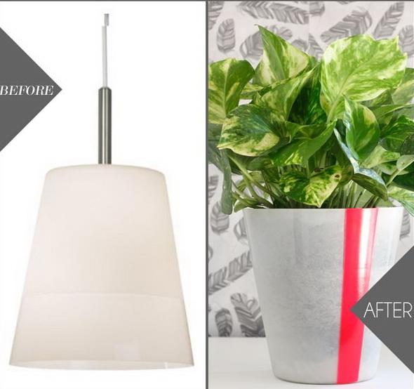 7  IKEA Pendant Light as Planter