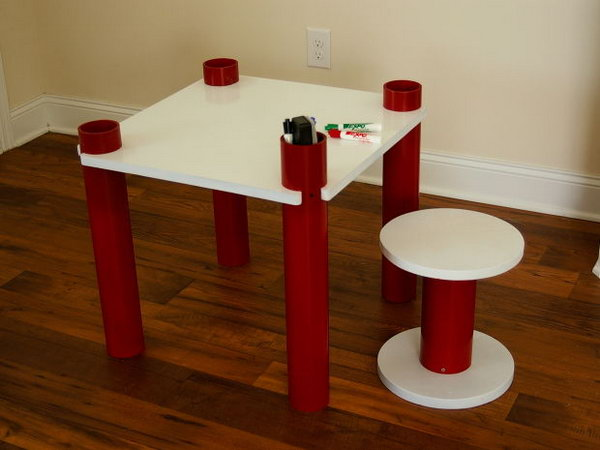 7 PVC Kids Table and Stool