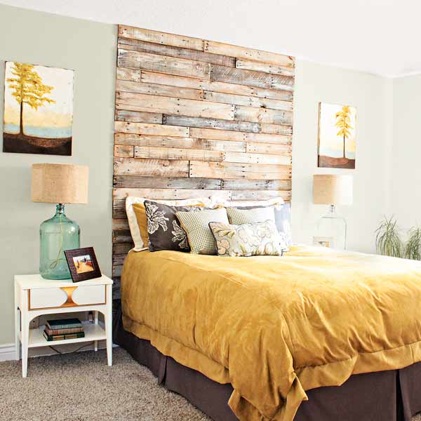 7 Rustic Wood Headboard