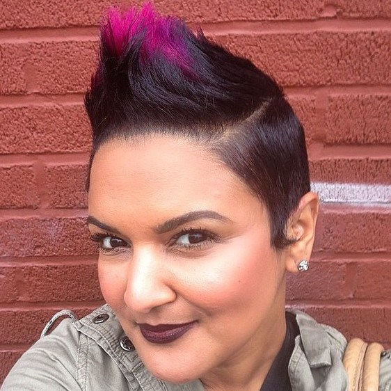 7 extra short funky mohawk for women