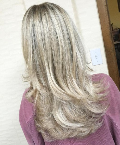 72 long blonde haircut with long layers