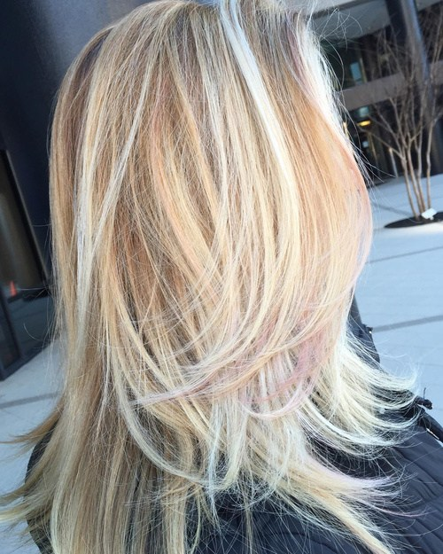 73 long blonde layered haircut with highlights
