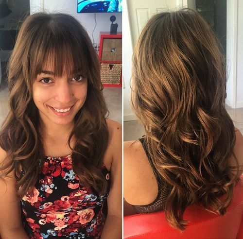 78 wavy layered hairstyle with bangs for long hair