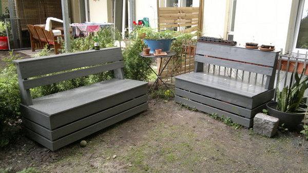 8 Easy Garden Storage Bench