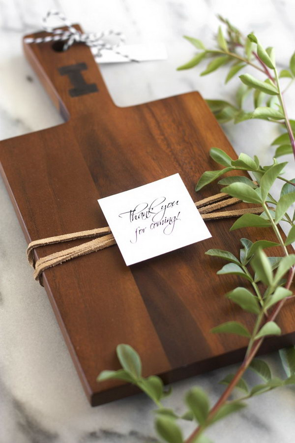 8 Personalized Board  with a Single Wood-burned Monogram