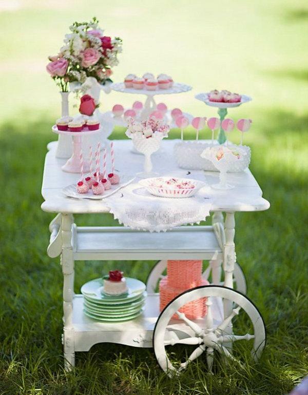 8 Vintage Dessert Cart
