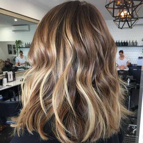8 blonde balayage for brown hair