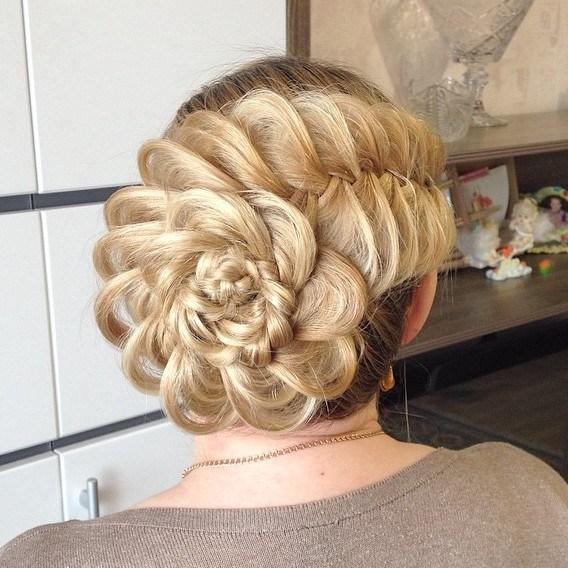 8 braided flower updo