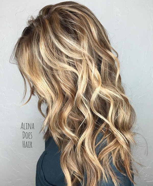 8 long layered sandy blonde hair