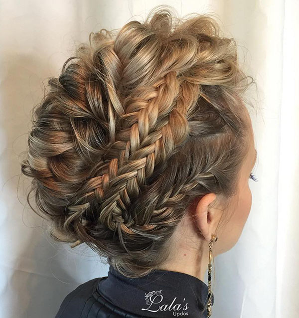 8 multibraided updo