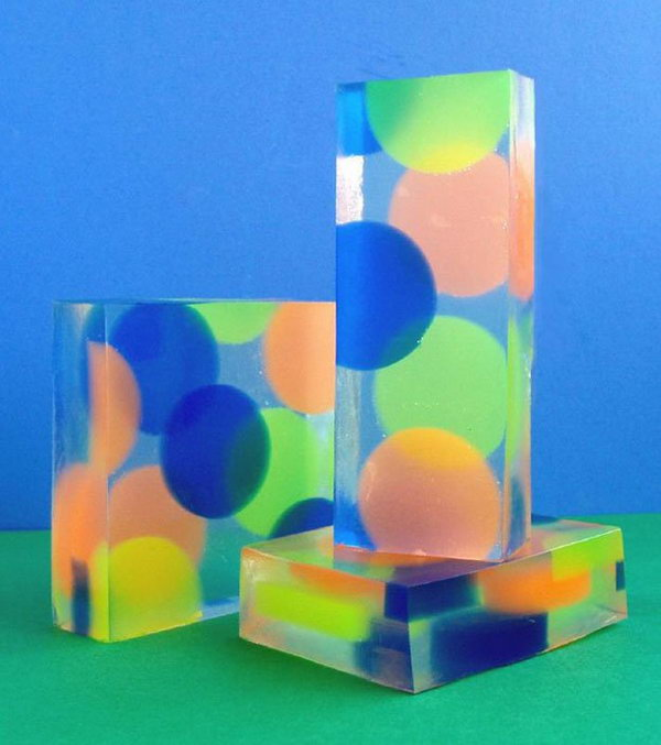 9 Colorful Dotted Handmade Soap