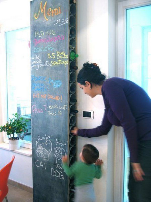 9  DIY Chalkboard and Wine Rack