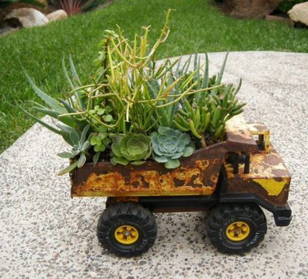 9 Toy Truck Planters